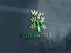 Green Tree Logo by Josuf Media on @creativemarket
