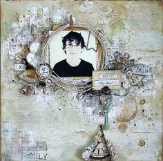Layout by Georgia Heald featuring Ingvild Bolme Junkyard Findings, Chalk Edgers and Shabby Chic Treasures #primamarketing #ingvildbolme