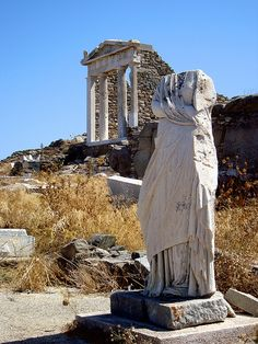 Delos, Greece. The island of light and the mythical birthplace of the God Apollo and Goddess Artemis. Approximately 4 hour tour from Mykonos.