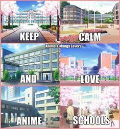 I love anime Schools