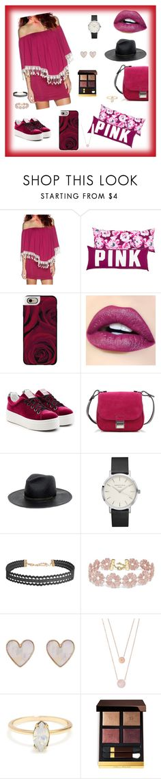 """""""#burgundylove"""" by sanidaskrebo ❤ liked on Polyvore featuring Casetify, Kenzo, Proenza Schouler, Janessa Leone, Humble Chic, BaubleBar, New Look, Michael Kors and Tom Ford"""