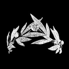 An ode to victory: laurel diamond tiara, circa 1885.