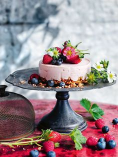 raspberry and ginger ice-cream cheesecakes by Donna Hay