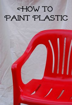 Have you ever considered painting plastic but are unsure if the paint will actually adhere to a smooth surface? The good news is that you can paint plastic. Your basic plastic items can be personalized with a fun and unique color. Painting Plastic Furniture, Painted Furniture, Diy Furniture, Patio Furniture Makeover, Chair Makeover, Outdoor Furniture, Furniture Stores, Furniture Projects, Spray Paint Plastic