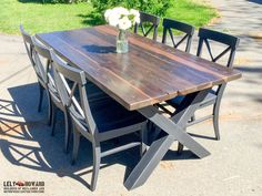 Now, you can find many wooden kitchen table ideas to match with any interior design. Black Table, Outdoor Tables, Dining Table, Black Desk, Diner Table, Dining Room Table