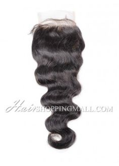"""#1B Lace Closure Indian Remy Hair 4X4"""" Body Wave [CI06]"""
