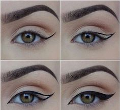 Afbeelding via We Heart It #eyeliner #fashion #makeup #steps