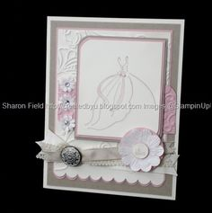 Glamor and Glitz... a touch of pink wedding card