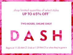 Midday Dash: Up to 65% off