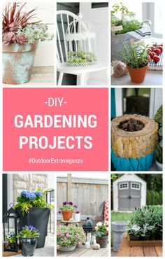"""""""Grow a Tomato Sauce Garden"""" Gift Basket DIY Gardening Projects for the Outdoor Extravaganza Diy Garden Projects, Diy Craft Projects, Decor Crafts, Garden Ideas, Diy Crafts, Large Outdoor Planters, Front Porch Planters, Porch Plants, Potted Plants"""