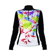 Hot Chillys Womens MEC Sublimated Print Zip-T (Lucky Fortune/Black)