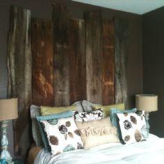 Headboard - made from Old barn wood