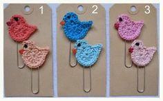Maak Het FF-Maddy's blog: Rokje, paperclips en patroon gehaakt vogeltje!