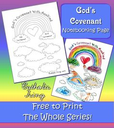 God's covenant with mankind- this printable notebooking page is free, plus, she has a ton more Bible notebooking pages. Check it out!