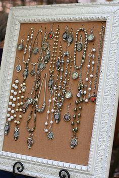 Jewelry cork board - what a good idea for your Silpada Jewelry!