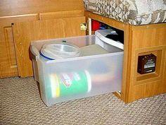 Under bench storage