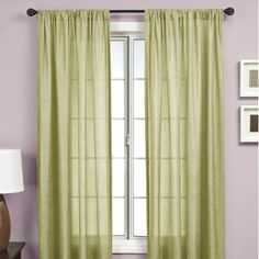 Softline Home Fashions Gigi Rod Pocket Panel in Grass $27/panel