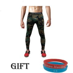 Camouflage Compression Pants Army Joggers Leggings Tights Fitness Fashion Casual Mens Trousers Tops Tees