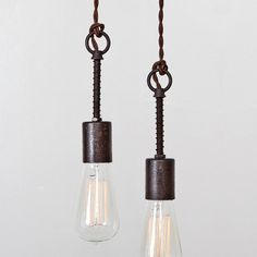 #Etsy finds | Industrial Spring Pendant Light Bare Bulb Trouble by FleaMarketRx, $110.00
