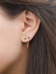Triangle Stud Earrings - Simple Stud Earrings - Geometric Earrings - Cartilage Earrings - Minimalist Earrings - Tiny Stud Earrings - - Women's style: Patterns of sustainability Tiny Stud Earrings, Triangle Earrings, Simple Earrings, Sterling Silver Earrings Studs, Crystal Earrings, Diamond Earrings, Cartilage Earrings, Second Hole Earrings, Earrings Uk