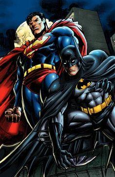 deviantart superman | Superman & Batman: World's Finest // artwork by Gilbert Monsanto and ...