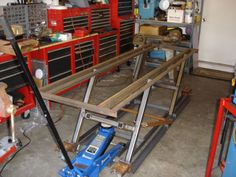 Need Plans For Motorcycle Lift Cyclefish Com Work