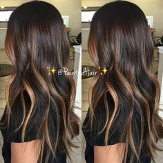 🍂✨Perfectly Fall toned ✨Painted Hair✨🍂 I used in her formula to protect her hair during processing and… Dark Ombre Hair, Brown Blonde Hair, Brunette Hair Color With Highlights, Hair Highlights, Hair Color And Cut, Brown Hair Colors, Tips Belleza, Hair Painting, Fall Hair