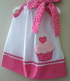 Beautiful Cupcake birthday pillowcase dress. $28.00, via Etsy.
