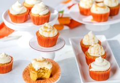 It's been 6 years since I published this recipe (9/9/13) and it's about time I updated the pictures and post. One thing about these pumpkin spice cupcakes is that they have stood the test of time. They are still my go-to pumpkin cupcakes of the season and are perfect every time I bake them. There … Pumpkin Spice Cupcakes, Pumpkin Spice Latte, Mini Cupcakes, Homemade Caramel Sauce, Pumpkin Chocolate Chips, Baked Pumpkin, Cream Cheese Frosting, Baked Goods, Spices