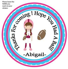 Set of 12 Foot ball Girl Sport Theme All Star, Birthday Custom Personalized Birthday Party Favor Stickers,-by Beauty and Brains Girls-please Leave the Name YOU Want on Your Stickers-please Note That Missing Information Will Add to the Turnaround Time BeautyAndBrainsGirls http://www.amazon.com/dp/B012K548ZA/ref=cm_sw_r_pi_dp_Tuejwb1TDRBEW
