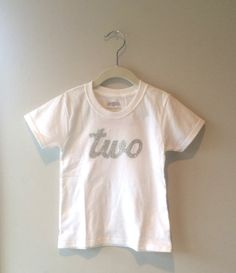 Silver or Gold Glitter Two Birthday Shirt by JamieVanNuysDesigns