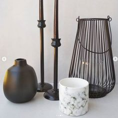Scandi inspired modern nordic black centerpiece decor