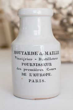 Vintage French Mustard Pot