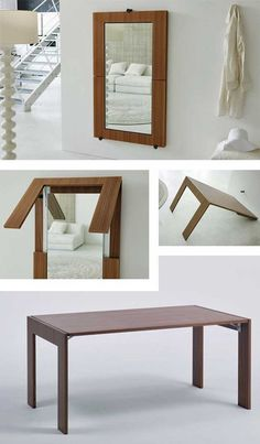 28 Really Clever Transforming Furniture + DIY ideas (With Images) Diy Furniture Renovation, Diy Furniture Cheap, Diy Furniture Hacks, Smart Furniture, Space Saving Furniture, Home Furniture, Furniture Design, Furniture Legs, Barbie Furniture