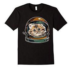 Amazon.com: Astronaut Space Cat Tshirt - Retro Style: Clothing
