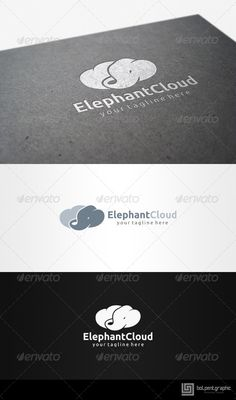 Elephant Cloud  #GraphicRiver          Elephant Cloud   	 Overview:   CMYK Color, 100% vector  Editable & Re-sizable file in these file formats [EPS, AI, CDR]  Easy to change color & text  Used Free Font [Link Included Main Download] 	 Note: The mock up file is not included, that's only for preview purpose. Please any help you need Contact me and I am at your service at any time.  	 More of my work: bolpent Portofolio  	 Thanks for watching. If you gonna purchase it. I am appreciate if you…