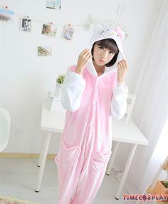 Hello Kitty Onesies Pajamas Unisex Flannel Kigurumi Onesies Winter Animal  Pajamas For Adults Animal Pajamas a5c3b5712