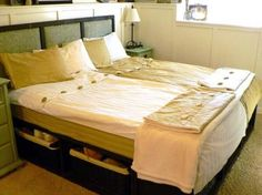 King Size Pottery Barn Bed.  You have to check out this site....ana-white...   So creative!