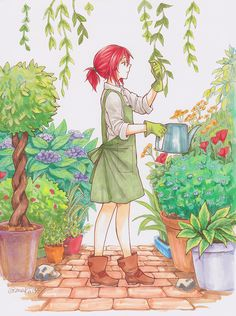 Chise 🌌 I was a bit confused first thay is she Shirayuki or Chise. Chise Hatori, Snow White With The Red Hair, The Ancient Magus Bride, Kawaii, Fan Art, Attack On Titan Anime, Anime Art Girl, Anime Comics, Anime Love