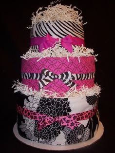 the best zebra diaper cake I've seen thus far.