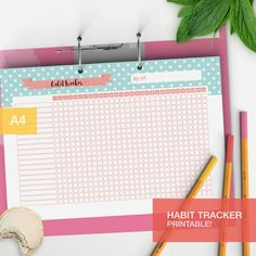 Habit tracker in pdf printable planner insert! A nice and cute habit chart to keep track of habits, perfect for your planner or bullet journal The zip contains 4 different layouts for months of 31, 30, 29 and 28 days, so the tracker is pretty whatever month it is. Of course you wont use the 29 days one for another 4 years, but its there when youll need it! ___________________ * THIS PURCHASE IS FOR A INSTANT DIGITAL DOWNLOAD. NO PHYSICAL ITEM WILL BE SENT* __________________...
