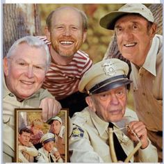 Mayberry guys...Andy, Barney, Opie, and Goober.....how.time flies