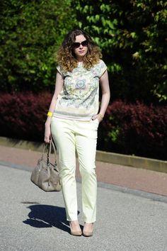 .: Scarfprint + Pastels :. #DIY #scarfprint #top #pants