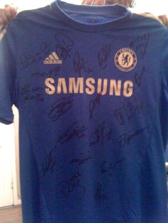 quality design fbf6b f9a80 Chelsea Jersey signed by entire team.