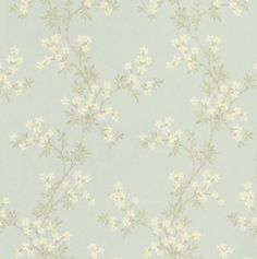 Jasmine Trail (68761) - Albany Wallpapers - A delicate, all over floral trail featuring small blossoms.  Shown here in the blue colourway. Other colourways are available. Please request a sample for a true colour match. Paste-the-wall product.