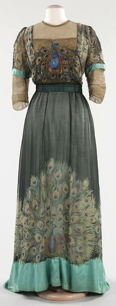 Peacock dress, victorian