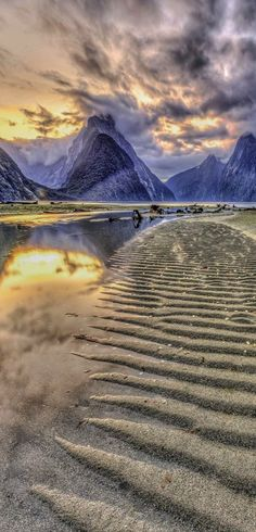 Milford Sunset, Fiorland, South Island, New Zealand