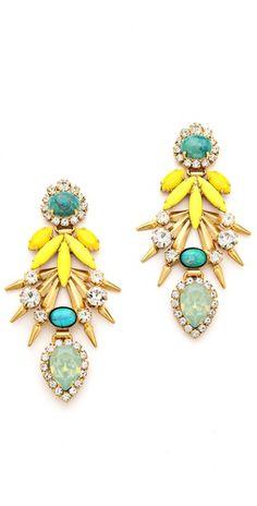 Elizabeth Cole Strieker Earrings   SHOPBOP