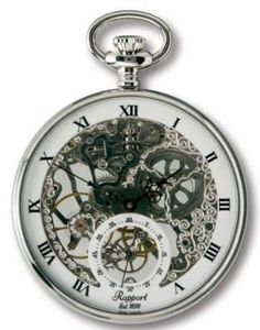 Rapport of London - Open Face Pocket Watch with Skeletonized Movement (cool style way too expensive)