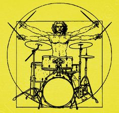 T-shirt Men von Vitruvio Battery - nº 1064960 - T-shirts latostadora - # Rock And Roll, Tatoo Crane, Drum Lessons For Kids, Drum Tattoo, Drums Art, Drum Music, Plakat Design, Cultura Pop, Mellow Yellow